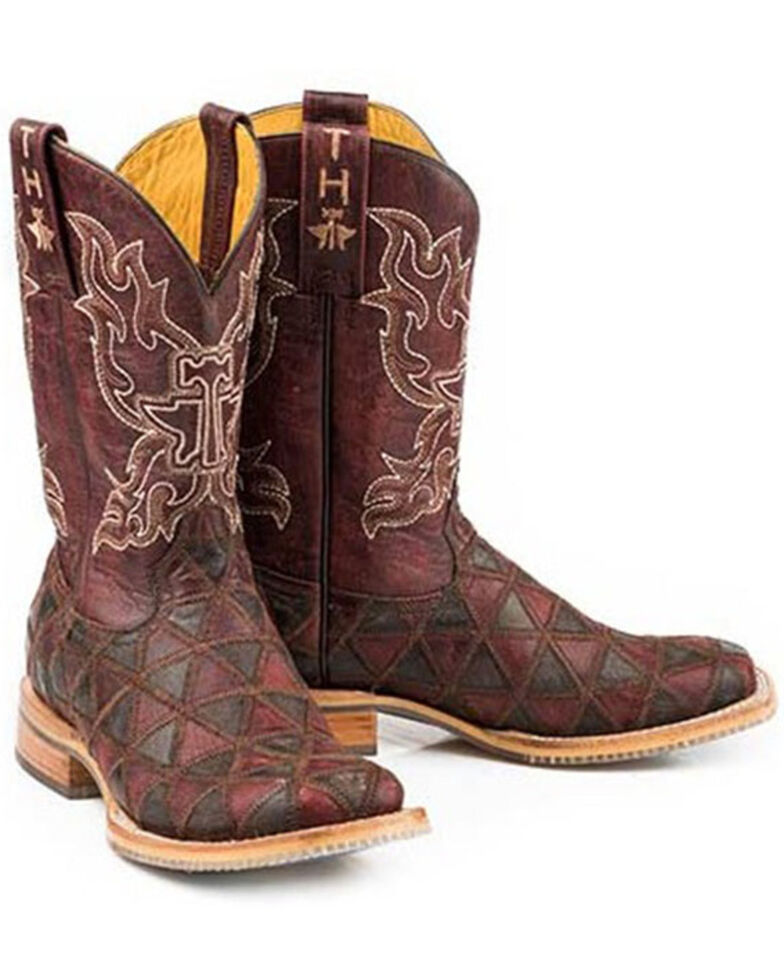 Tin Haul Women's Cute Angel Western Boots - Wide Square Toe, Brown, hi-res
