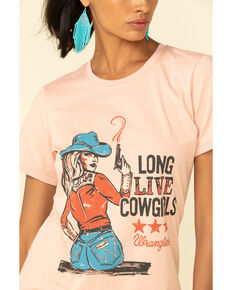 Wrangler Retro Women's Misty Rose Long Live Cowgirls Graphic Tee, Rose, hi-res