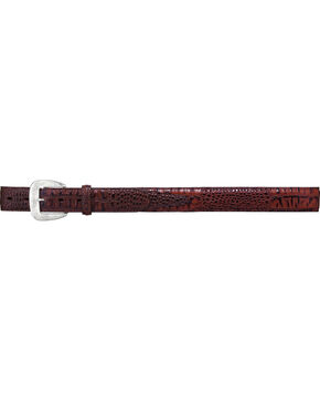 Tony Lama Men's Gator Embossed Leather Belt, Brown, hi-res