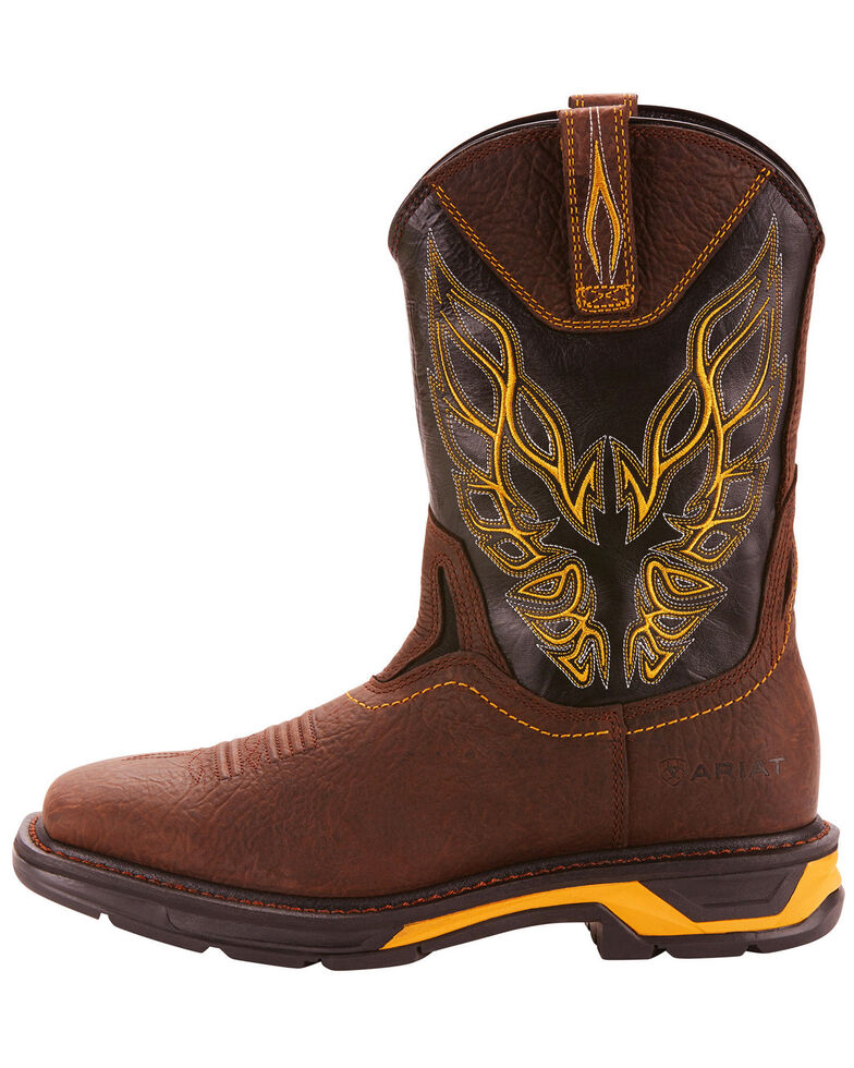 Ariat Men's Brown Workhog XT Firebird Boots - Square Toe , Brown, hi-res