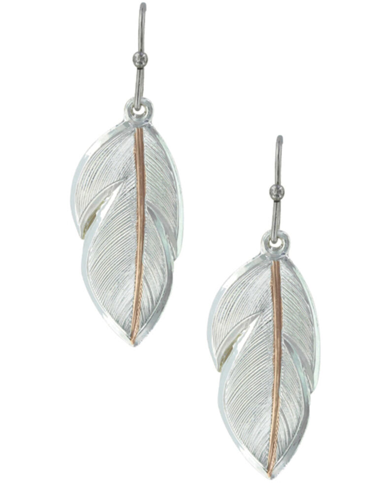 Montana Silversmiths Women's Downy Feather Earrings, Silver, hi-res
