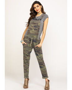 Z Supply Women's Basic Knit Camo Overalls, Camouflage, hi-res