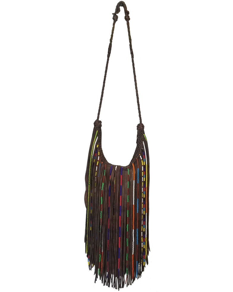 Kobler Leather Women's Brown Gypsy Crossbody Bag, Dark Brown, hi-res