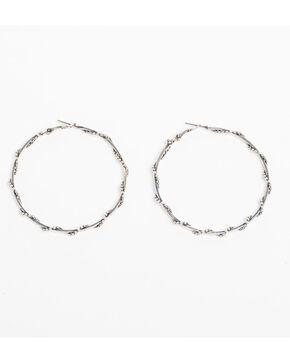 Shyanne Women's Bella Clutchless Hoop Earrings, Silver, hi-res