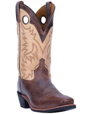Laredo Men's Patton Western Boots - Narrow Square Toe, Brown, hi-res