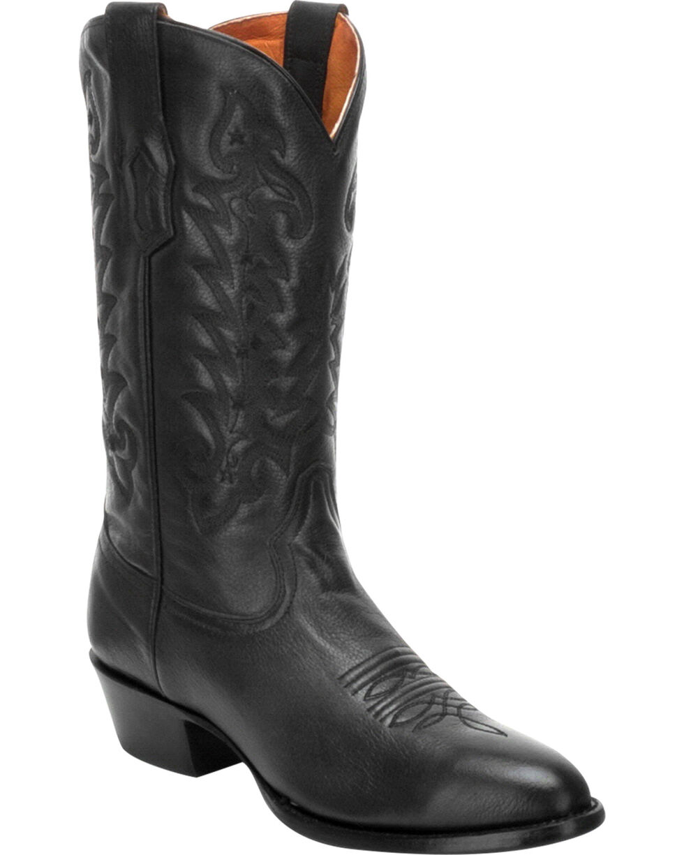 Corral Men's Black Comfort System Cowboy Boots - Medium Toe, Black, hi-res