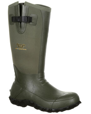 Georgia Boot Men's Waterproof Rubber Boots - Round Toe, Green, hi-res