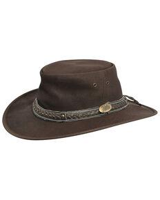 Jacaru Roo Nomad Traveler Outback Hat, Brown, hi-res