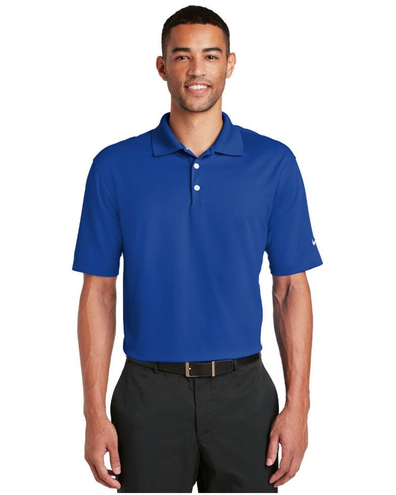 Nike Golf Men's Dri-Fit Micro Pique Short Sleeve Work Polo Shirt , Blue, hi-res