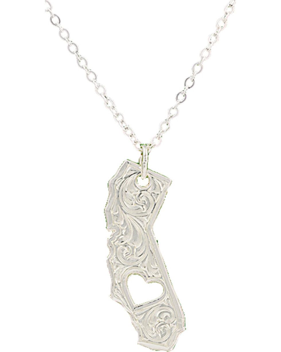 Montana Silversmiths I Heart California Necklace, Silver, hi-res