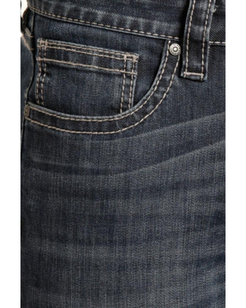 "Rock & Roll Cowboy Small ""V"" Reflex Revolver Slim Jeans - Straight Leg , Indigo, hi-res"