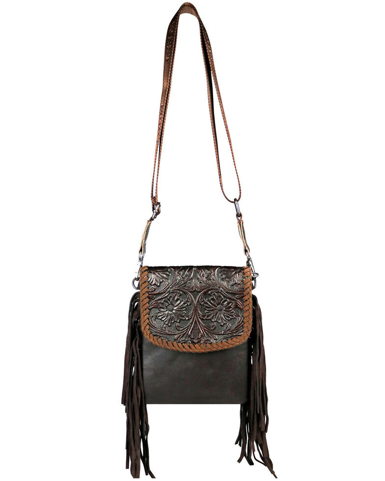 Montana West Women's Mabel Tooled Crossbody Bag, Coffee, hi-res