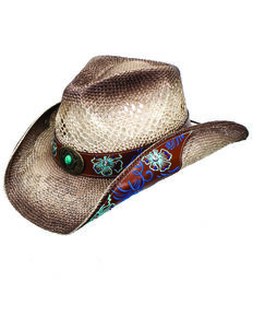 95ae6b715a8 Peter Grimm Women s Floral Brooklyn Straw Western Hat