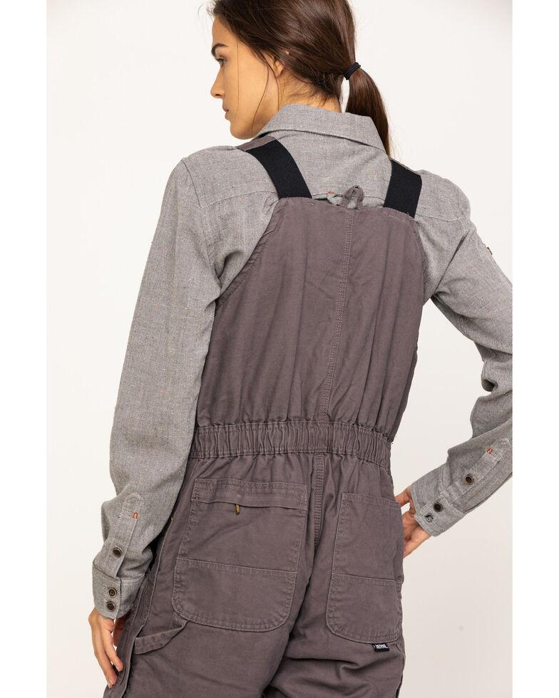 Berne Women's Titanium Softstone Insulated Bib Overalls - Reg, Grey, hi-res