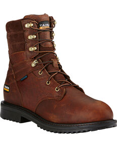 Ariat Men's RigTek® Waterproof  Work Boots, Brown, hi-res