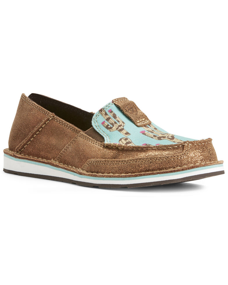 Ariat Women's Cruiser Leopard Cactus Slip-On Shoes - Moc Toe, Leopard, hi-res