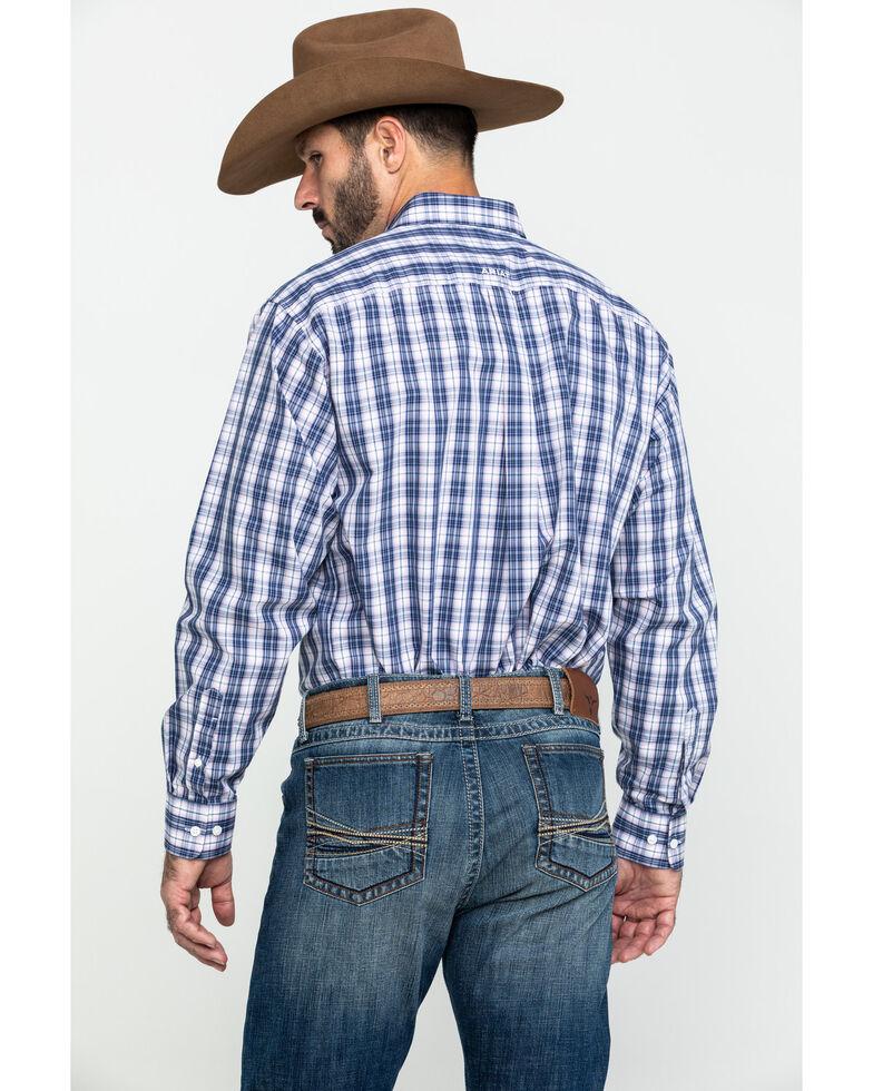 Ariat Men's Wrinkle Free Iola Plaid Long Sleeve Western Shirt , Multi, hi-res