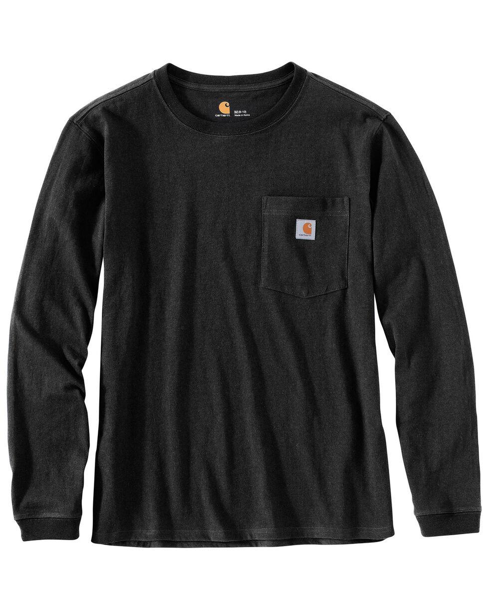 Carhartt Women's WK126 Workwear Pocket Long-Sleeve T-Shirt, Black, hi-res