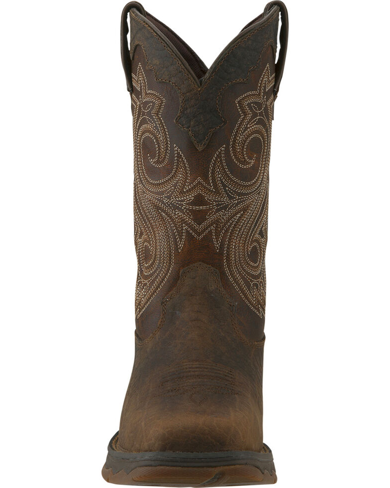 Durango Women's Flirtatious Steel Toe Western Boots, Brown, hi-res