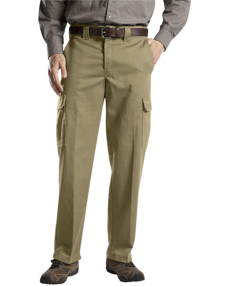 Dickies Loose Fit Cotton Cargo Pants - Big & Tall, Khaki, hi-res