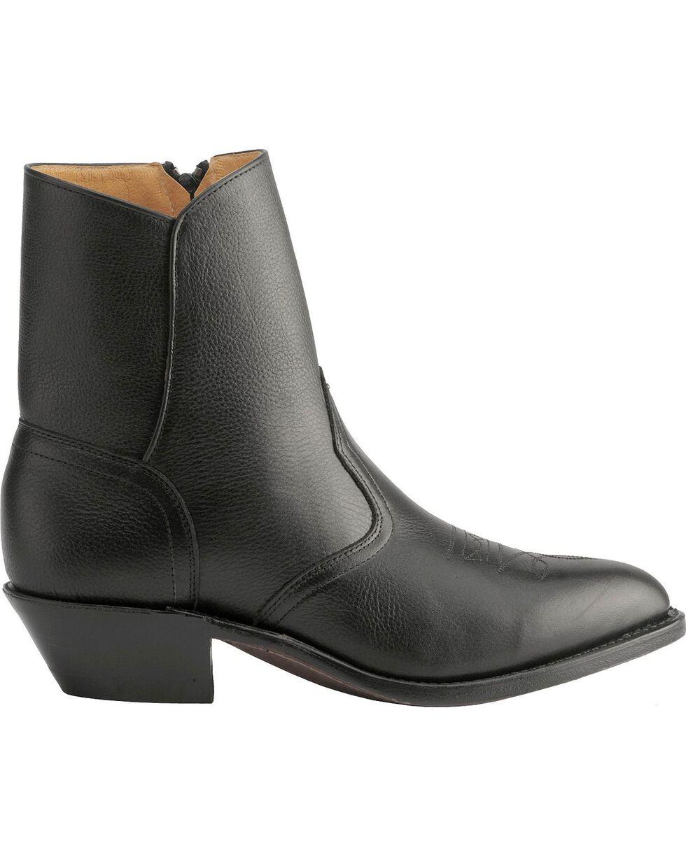 "Boulet Men's Vintage Square Toe 17"" Western Boots, Black, hi-res"