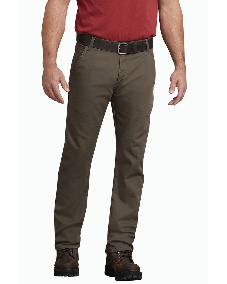 Dickies Men's Tough Max Duck Carpenter Regular Work Pants , Mushroom, hi-res