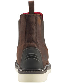 Avenger Men's Waterproof Romeo Wedge Work Boots - Composite Toe, Brown, hi-res