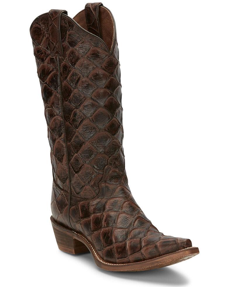 Nocona Women's Bessie Western Boots - Snip Toe, Chocolate, hi-res