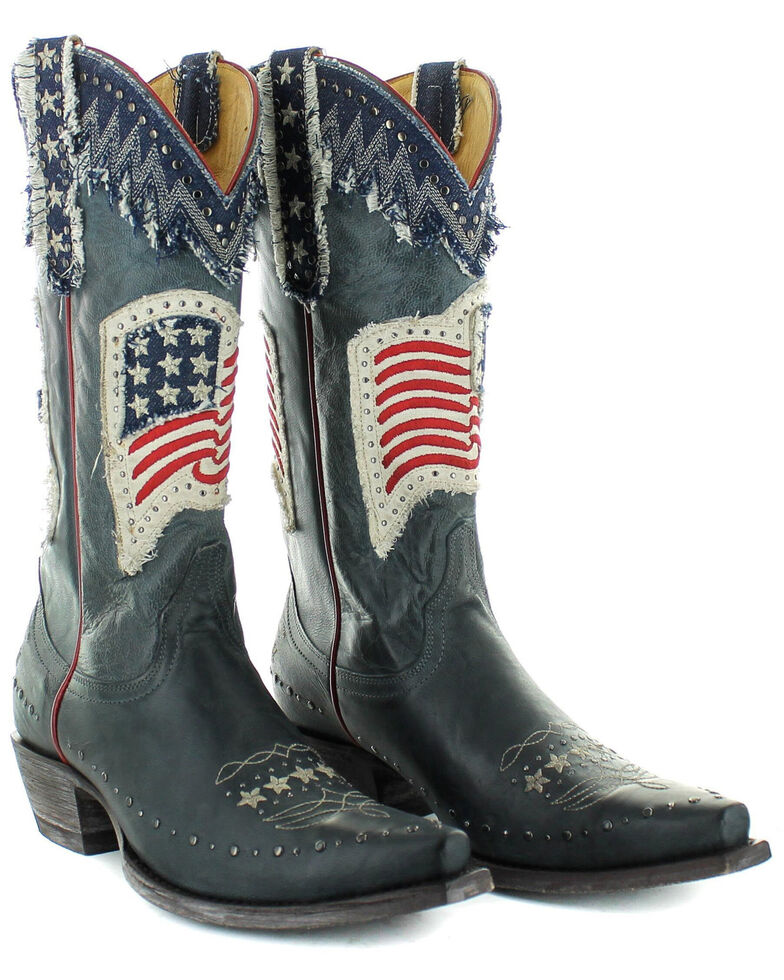 Old Gringo Women's Unity Western Boots - Snip Toe, Blue, hi-res