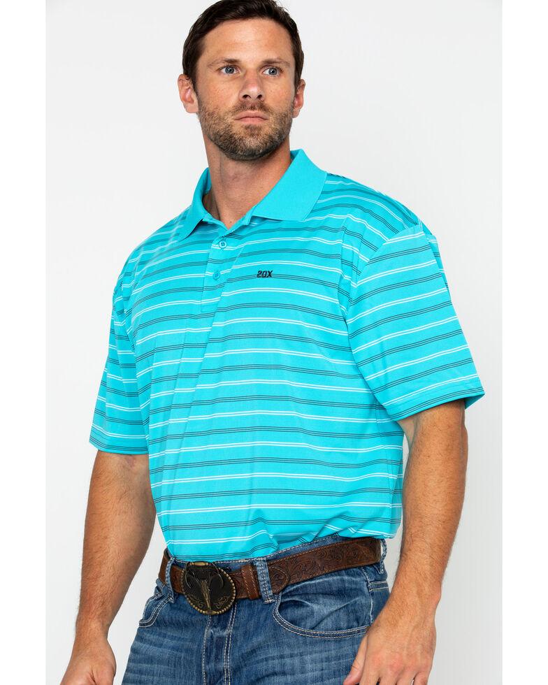 Wrangler 20X Men's Blue Advanced Comfort Polo Shirt, Blue, hi-res