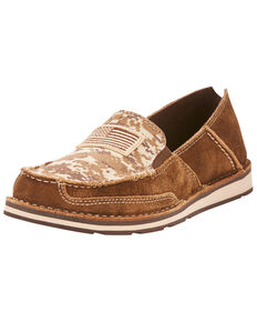 Ariat Women's Mocha Patriot Cruiser Shoes - Moc Toe, Brown, hi-res