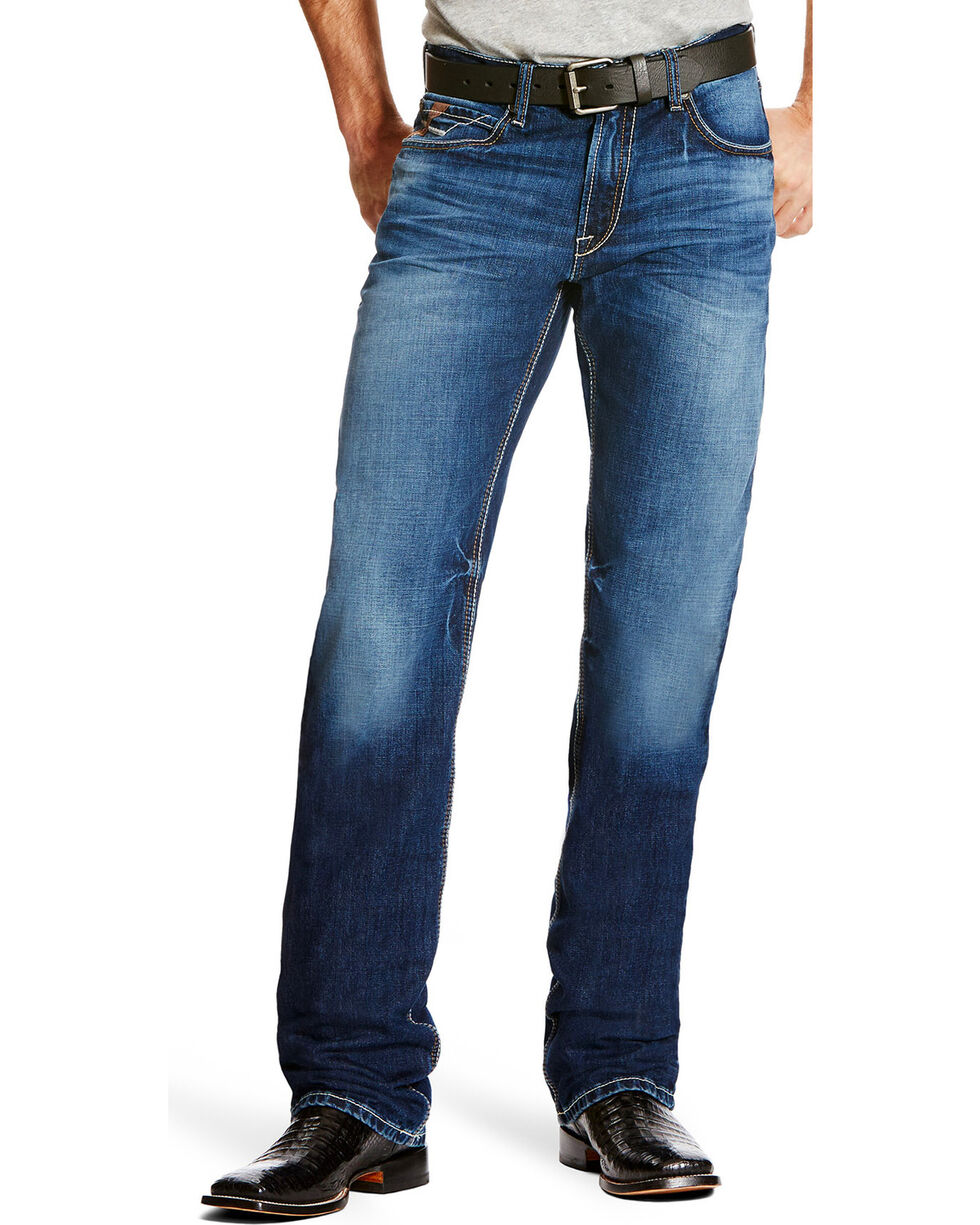 Ariat Men's M2 Cole Dark Wash Jeans - Boot Cut , Indigo, hi-res