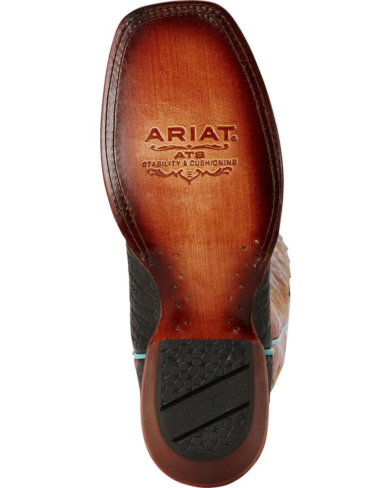 Ariat Women's Derby Elephant Print Western Boots, Black, hi-res