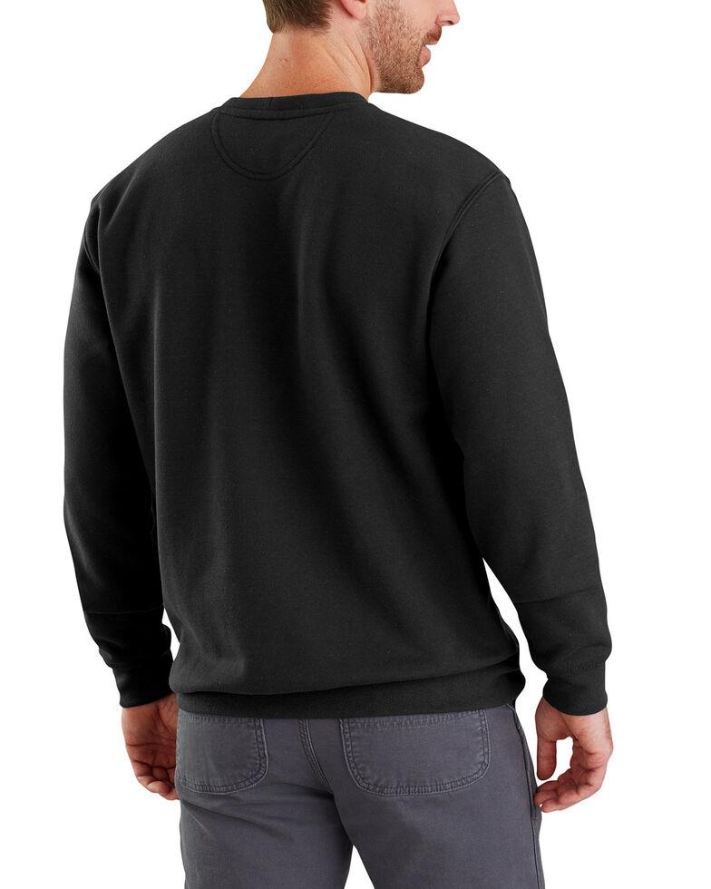 Carhartt Men's Midweight Graphic Crew Work Sweatshirt, Black, hi-res