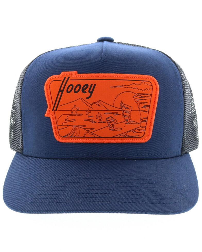 HOOey Men's Navy Davis Patch Mesh Ball Cap , Navy, hi-res