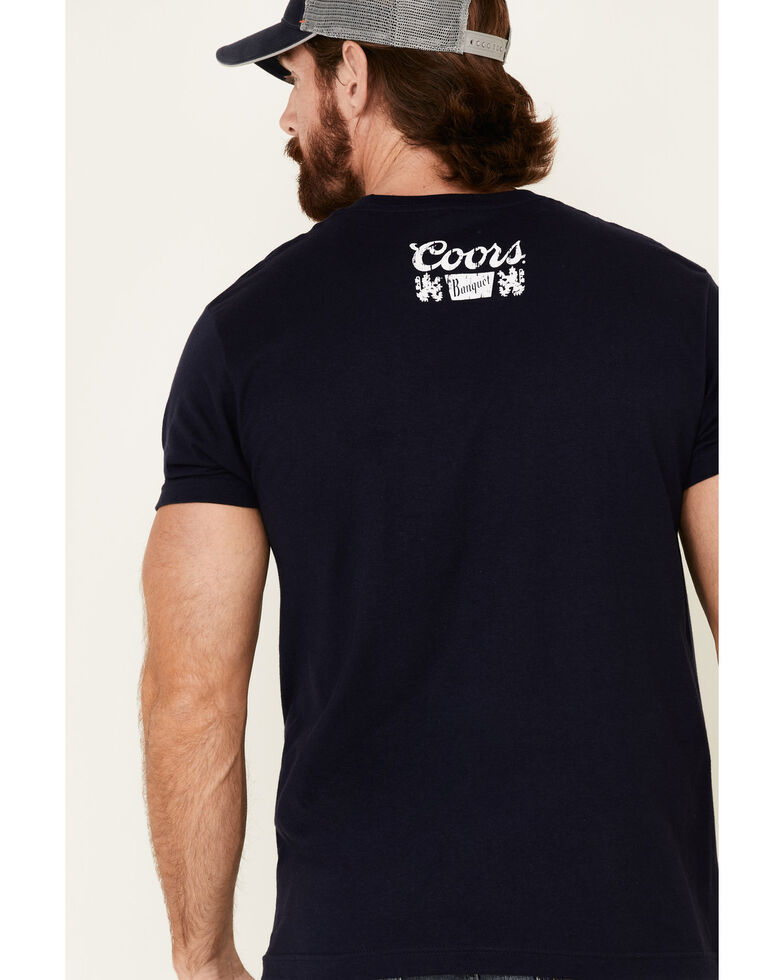Brew City Beer Gear Men's Navy Coors Trapezoid Graphic T-Shirt , Navy, hi-res