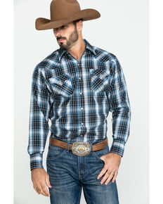 Ely Cattleman Men's Assorted Textured Multi Large Plaid Long Sleeve Western Shirt - Tall , Multi, hi-res