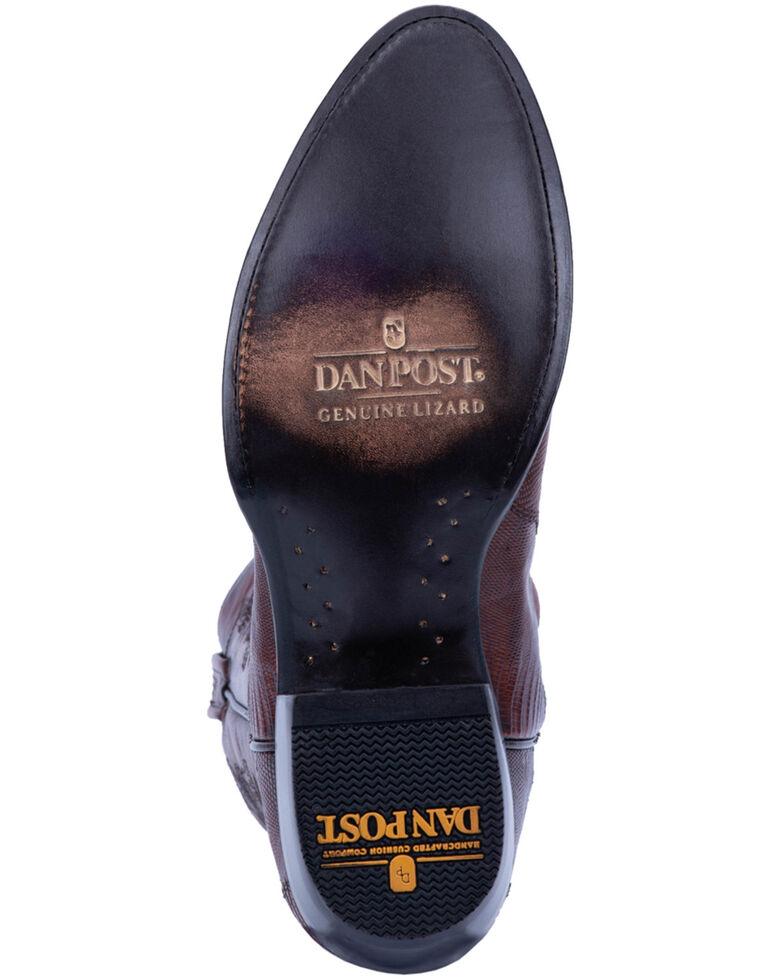 Dan Post Men's Tan Winston Lizard Western Boots - Round Toe, Brown, hi-res