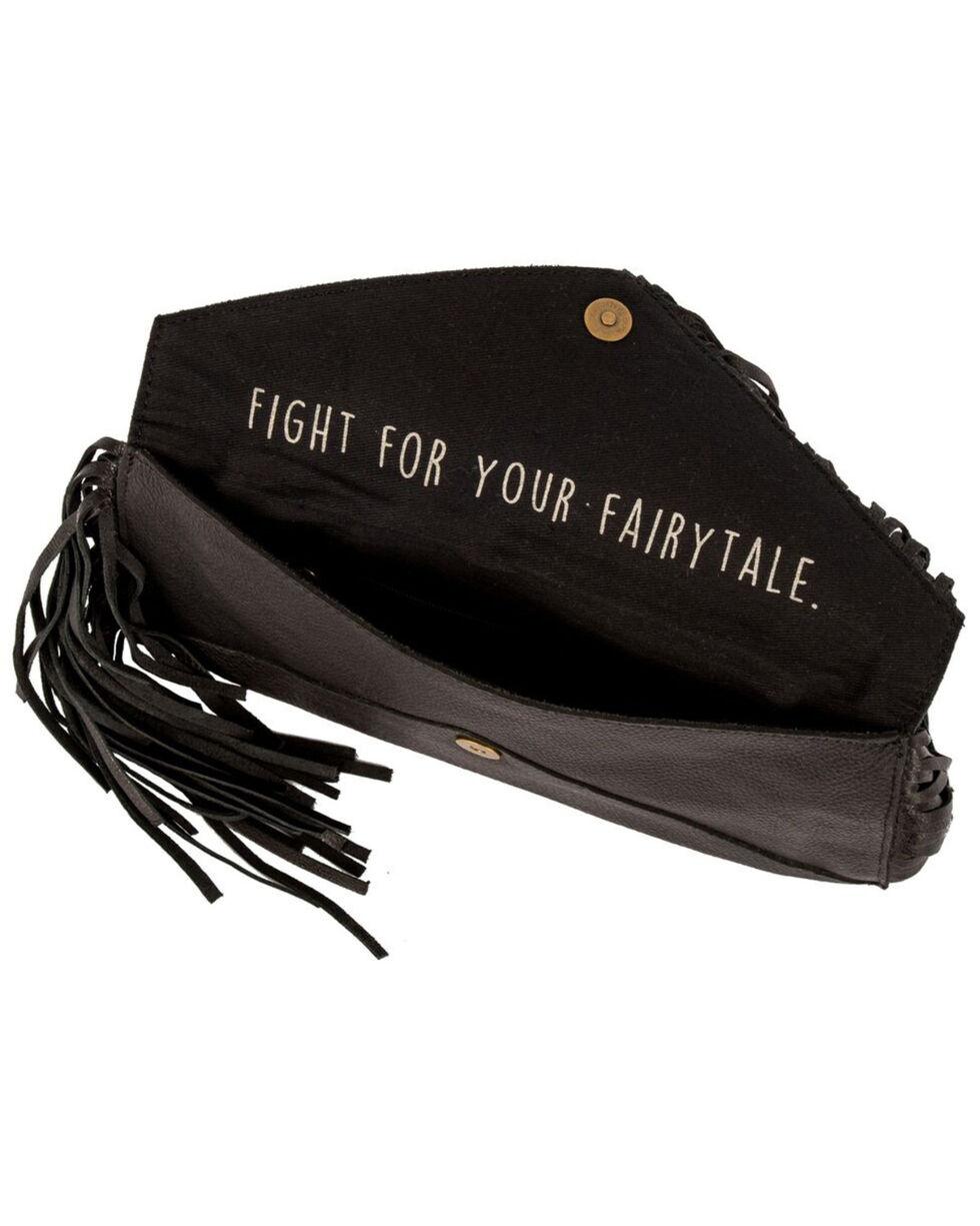 STS Ranchwear Women's Black Envelope Leather Clutch, Black, hi-res