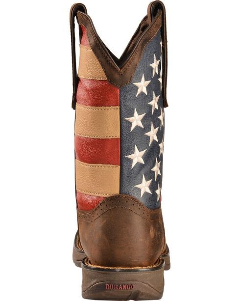 Durango Men's Patriotic Square Toe Western Boots, Brown, hi-res