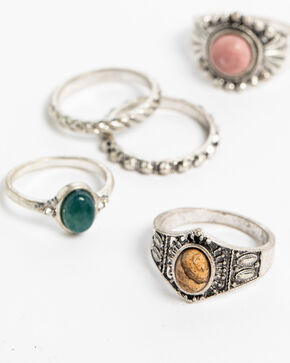 Shyanne Women's Mojave Mix Ring Set, Silver, hi-res