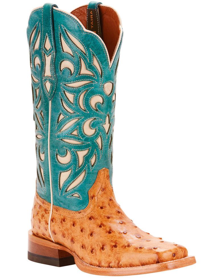 Ariat Women S Tan Carmencita Full Quill Ostrich Boots