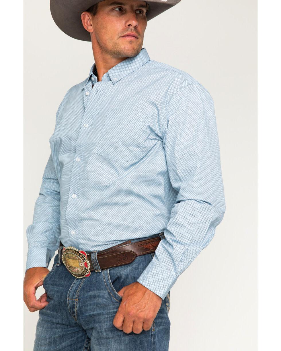 Cody James® Men's Button Down Long Sleeve Shirt, Blue, hi-res
