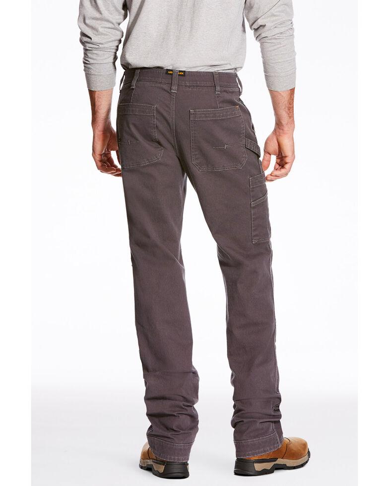 Ariat Men's Rebar M4 Washed Twill Dungaree Work Pants , Grey, hi-res