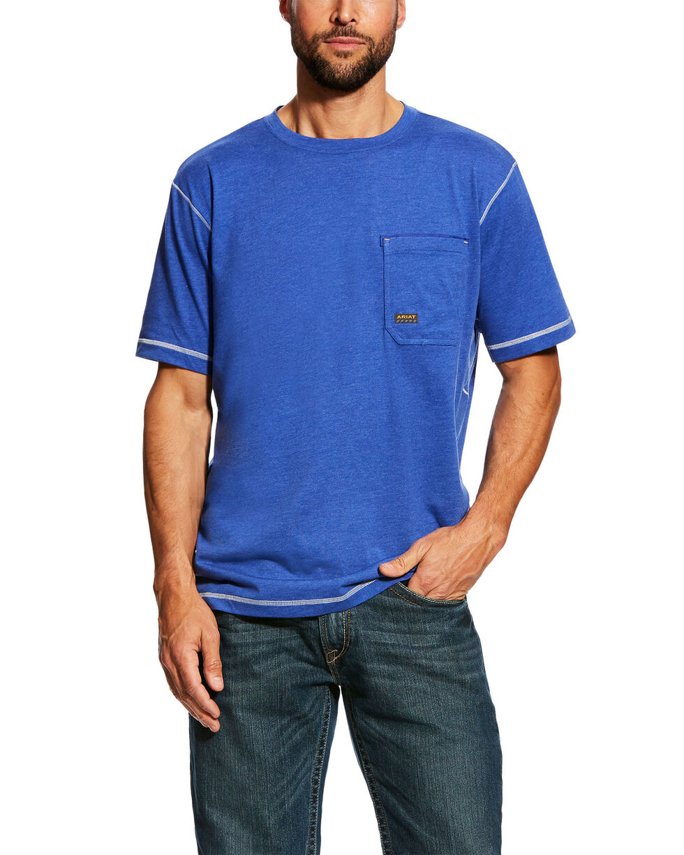 Ariat Men's Rebar Short Sleeve Work T-Shirt , Blue, hi-res
