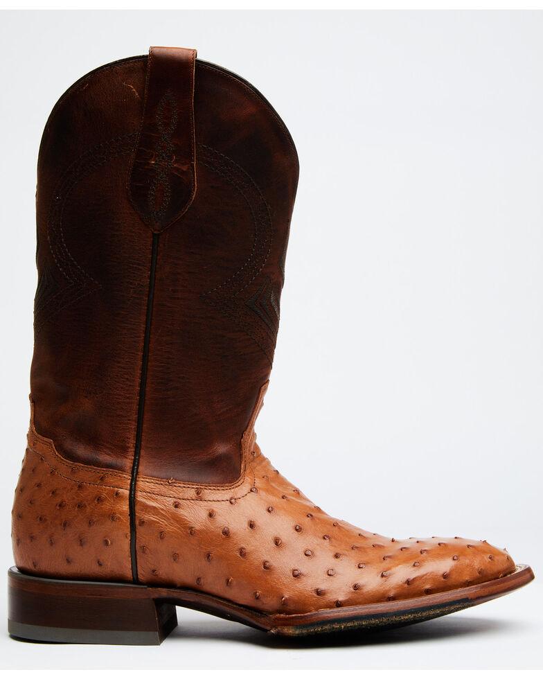 Cody James Men's Cognac Exotic Full-Quill Ostrich Western Boots - Round Toe, Cognac, hi-res