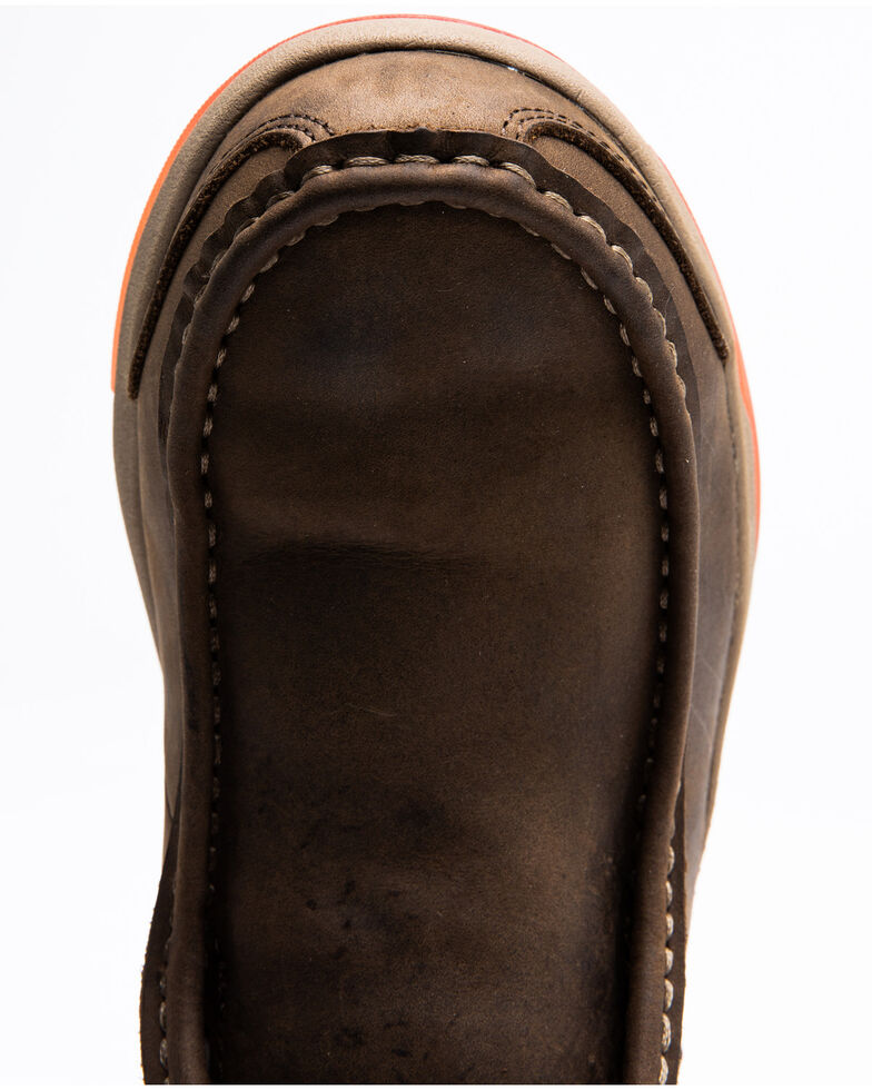Cody James Men's Low Cut Casual Driver Work Boots - Composite Toe, Brown, hi-res