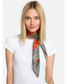 e15c981d396 Johnny Was Women s Peacock Silk Twill Scarf