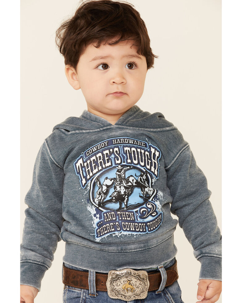 Cowboy Hardware Toddler Boys' There's Tough Embroidered Hooded Sweatshirt , Blue, hi-res