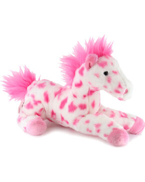 Aurora Kid's Plush Spotted Horse, Multi, hi-res